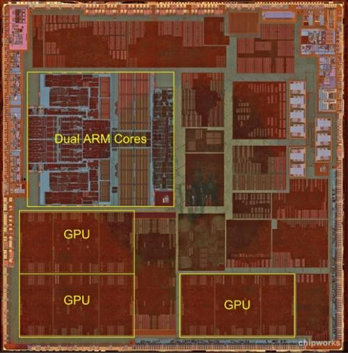 Apple's A6 SoC.  Click here to enlarge.