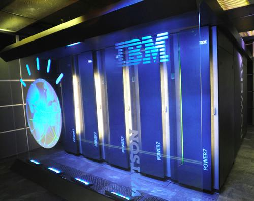IBM's Watson cluster supercomputer beat the human champions on the television quiz show Jeopardy.
