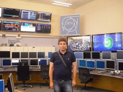 Javi at CERN.