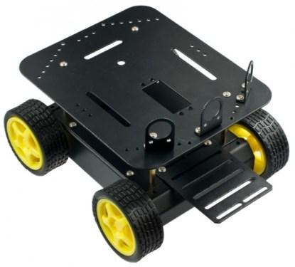The Pirate four-wheeled robot platform.