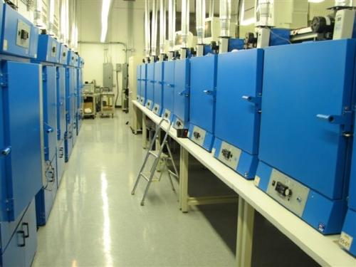 CMTL's facility contains rows of heat chambers for memory testing on motherboards.