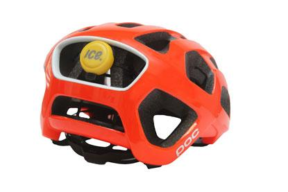 The ICEdot personal crash detector mounts on any helmet to detect possible head traumas.(Source: ICEdot)