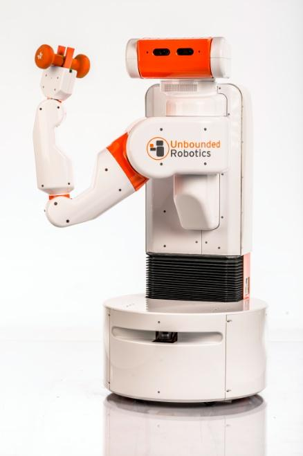 Unbounded Robotics' first model is a mobile platform for researchers and businesses wishing for an easy-to-program, one-armed assistant. 