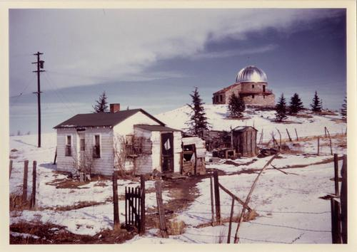 Before Fiske was here, it was just Sommers-Bausch Observatory, which still stands. This photo dates from around 1954.