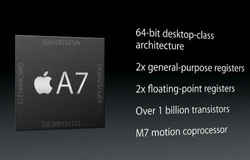 Apple's A7 64-bit chip.(Source: Apple.com)