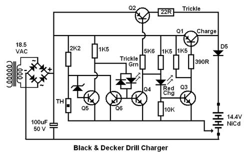 de walt battery charger wiring diagram