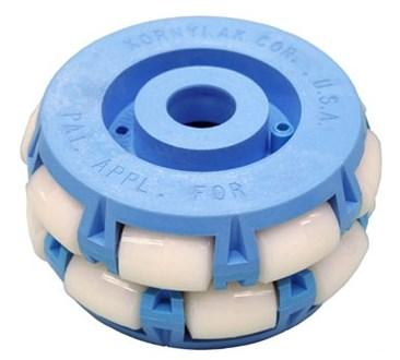 A 4-inch-diameter FXA156 (4202) transwheel from Kornylak Corporation.