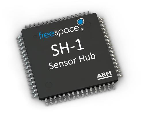 Hillcrest's first Sensor Hub (SH-1) featuring its Freespace sensor fusion, gesture recognition, and context-aware algorithms comes pre-integrated with Atmel's SAM D20 ARM Cortex M0+ based microcontroller.