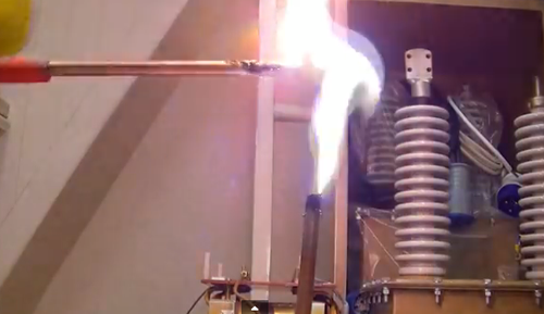 High voltage and high current.