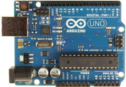 The Arduino Uno.