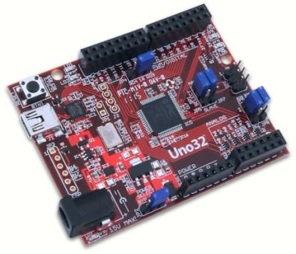 The chipKIT Uno32.