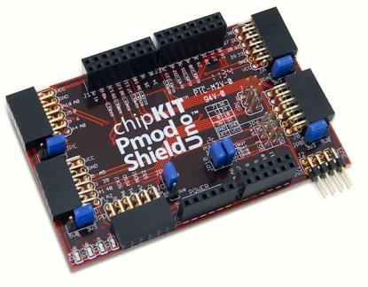 The chipKIT Pmod Shield-Uno.