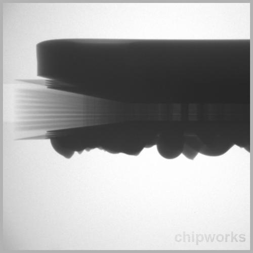 PS4 main processor, another X-Ray. (Source: Chipworks)