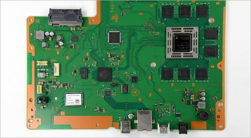 PS4's board. (Source: Chipworks)