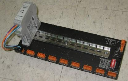 Figure 1. A TS35 DIN rail mounted on a PCB.