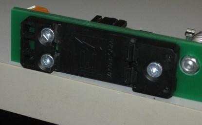 Figure 2. The TS35 rail fits in the slot.