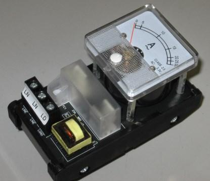 Figure 10. An analog meter mounted on a PCB.