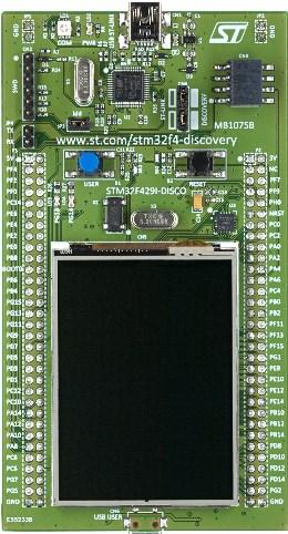 STM32F429 Discovery Board.