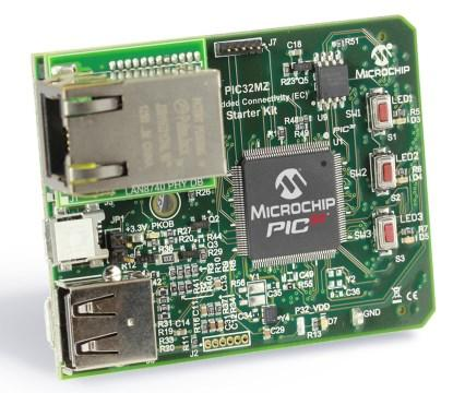 PIC32MZ Embedded Connectivity Starter Kit with Crypto Engine(Part No. DM-320006-2).