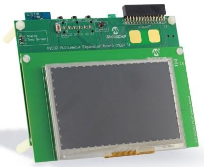 PIC32 Multimedia Expansion Board II (Part No. DM320005-2).