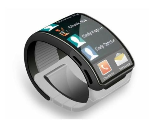 Samsung concept smartwatch using a flexible OLED display. (Source: Samsung)