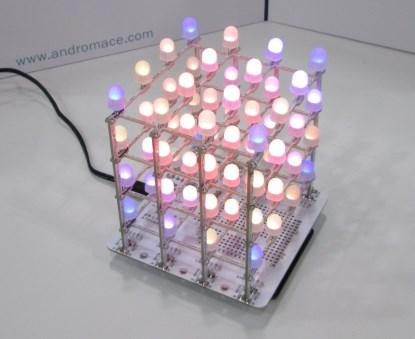 4x4x4 RGB LED cube.
