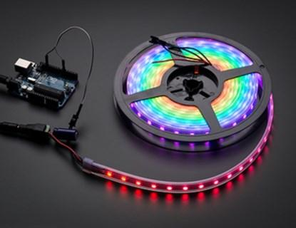 NeoPixel strip from Adafruit (60 tri-color LEDs per meter).