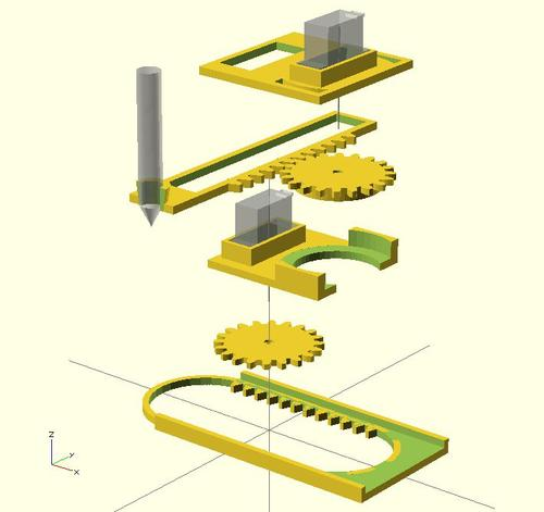Exploded view. (Source: Plotterbot.com)
