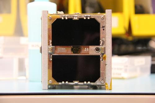 CubeSat from M-Cubed2, Michigan Exploration Laboratory's (MXL) CubeSat mission. 'M-Cubed2 is a mission designed around flight evaluation of a NASA JPL image processing FPGA called COVE,' MXL states. (Source: MXL)