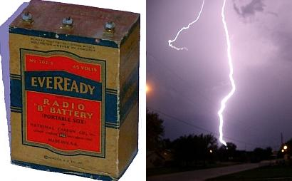 A battery and a lightning bolt represent very different poles of the power/energy continuum.