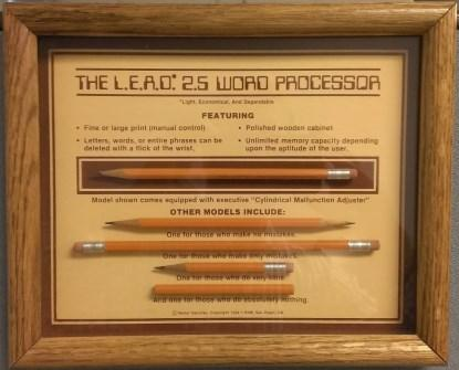 The pencil: A 400-plus year-old word processor that's still going strong(Click here to see a larger version of this image.)