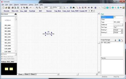 Schematic Capture tool screenshot (Click here to see a larger, more detailed image.)