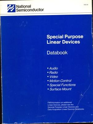 Some data book covers are iconic, like the blue and white from National.