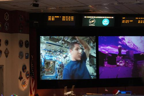 Live feeds from aboard the ISS.