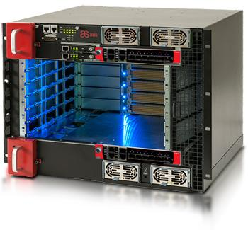 AdvancedTCA (ATCA) front-to-back cooled chassis in its midsized Ultra5 server blade platform. (Source: ZNYX)