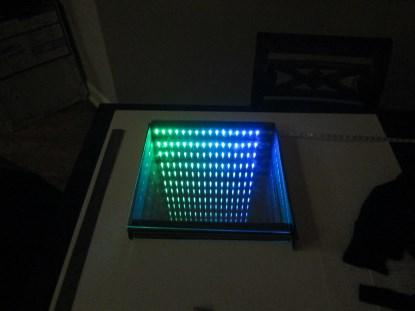 Test frame formed from three 0.5' rows with the NeoPixel strip attached to the middle row.