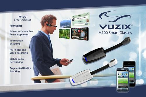 Poster of Vuzik's M100 Smart Glasses. (Source: Vuzik)