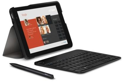 Dell Venue 8 Pro with keyboard and active stylus.