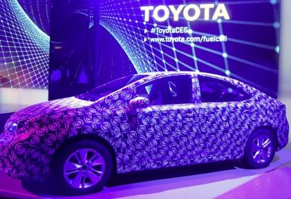Toyota's 'Frankenstein' fuel cell test car