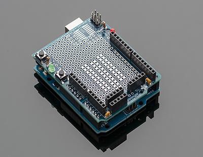 Adafruit Arduino Uno prototyping shield.