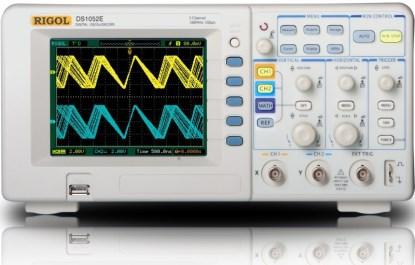Front view of the Rigol DS1052E oscilloscope.