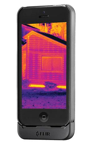 FLIR One phone accessory uses infrared sensors to see thermal data, which is in longer wavelengths and therefore invisible to humans. (Source: FLIR One)