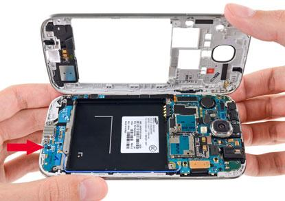 Can you spot the humidity sensor on Samsung GS4?(Source: iFixit)