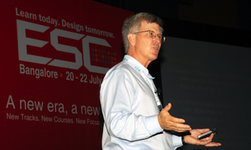 Embedded systems expert Jack Ganssle speaking at Embedded Systems Conference in India. (Source: UBM Tech)