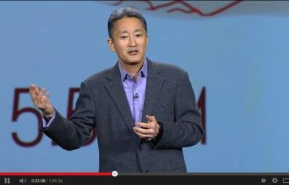 CES 2014's keynote address by Kazuo Hirai, President and CEO, Sony Corp.