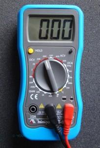 The multimeter in question.