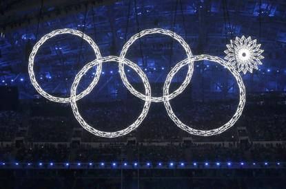 2014 Winter Olympic's fun failure: Sochi remakes the Olympic logo during the opening ceremony. 'You had one job, fifth ring. One job.' — Mashables