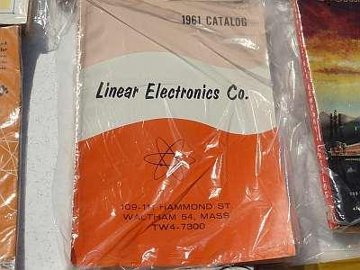 A 1961 catalogue from Linear Electronics of Waltham, Mass.