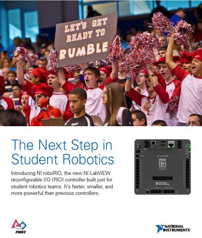 National Instruments' RoboRIO specification flyer for its FIRST robotics competitions. (Source: NI)