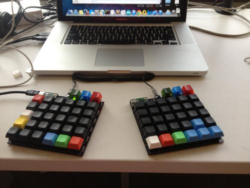 The custom keyboards in their completed form.